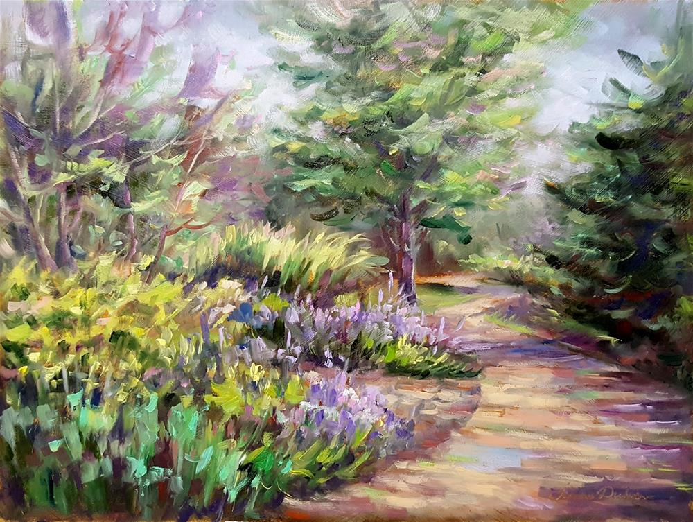 """Afternoon on the Garden Path"" original fine art by Tammie Dickerson"