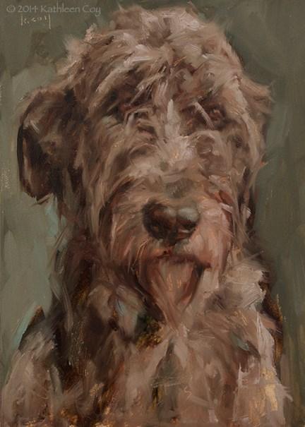 """""""Day 35 - Irish Wolfhound"""" original fine art by Kathleen Coy"""