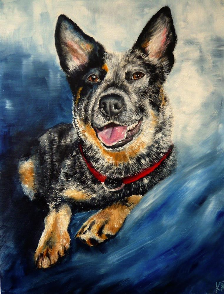 """Blue Heeler"" original fine art by Karen Robinson"
