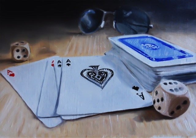 """Dead Man's Hand"" original fine art by James Coates"