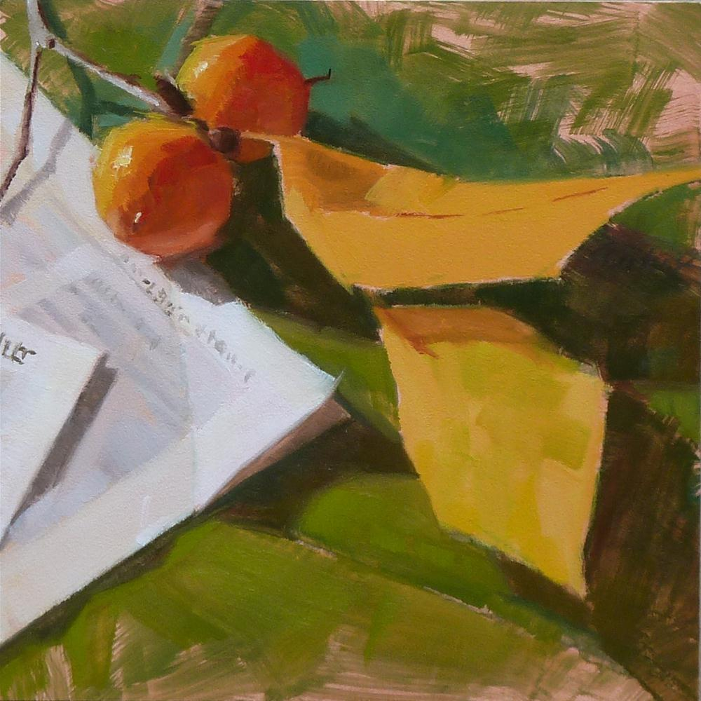 """Wild Persimmons #6-2012"" original fine art by Ron Ferkol"