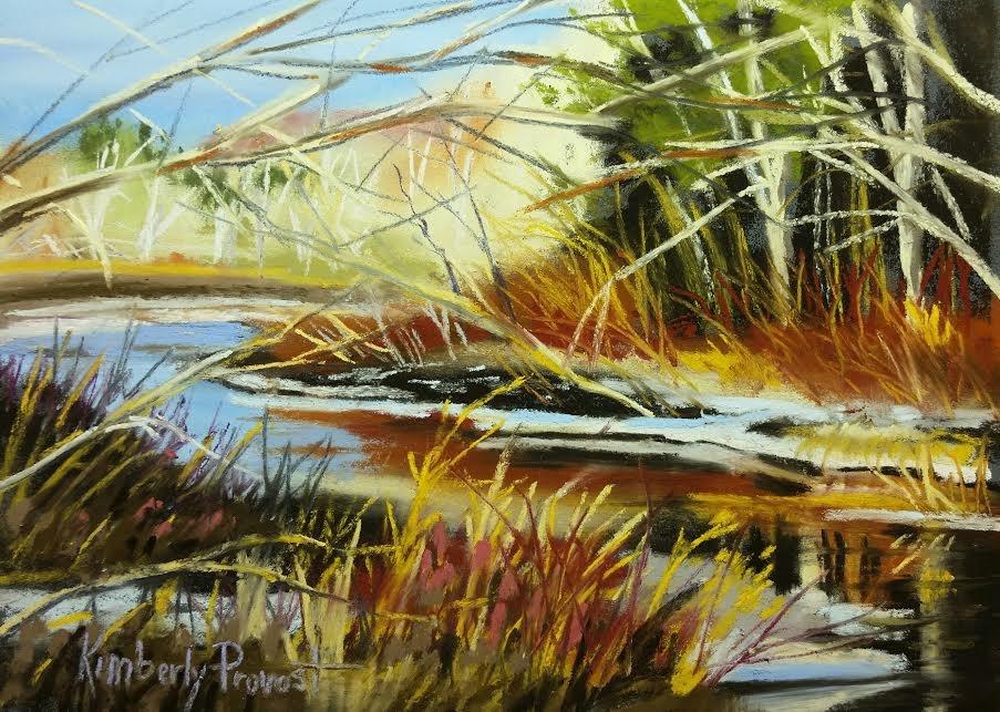 """Around the Bend"" original fine art by Kimberly Provost"