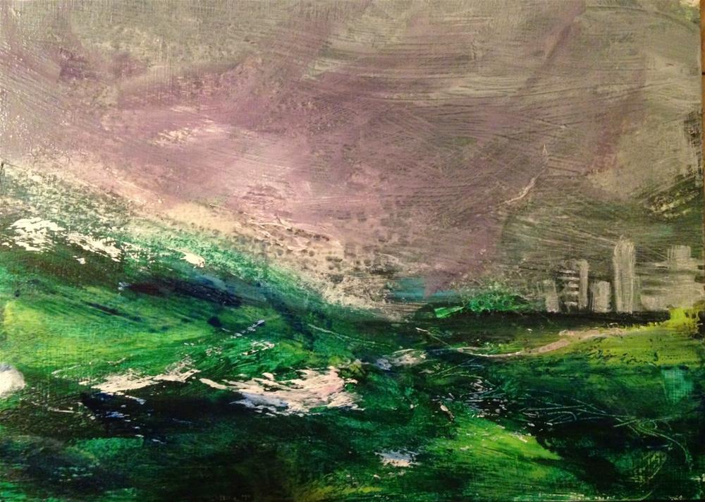 """Surge, 5x7 acrylic painting by Kelley MacDonald"" original fine art by Kelley MacDonald"