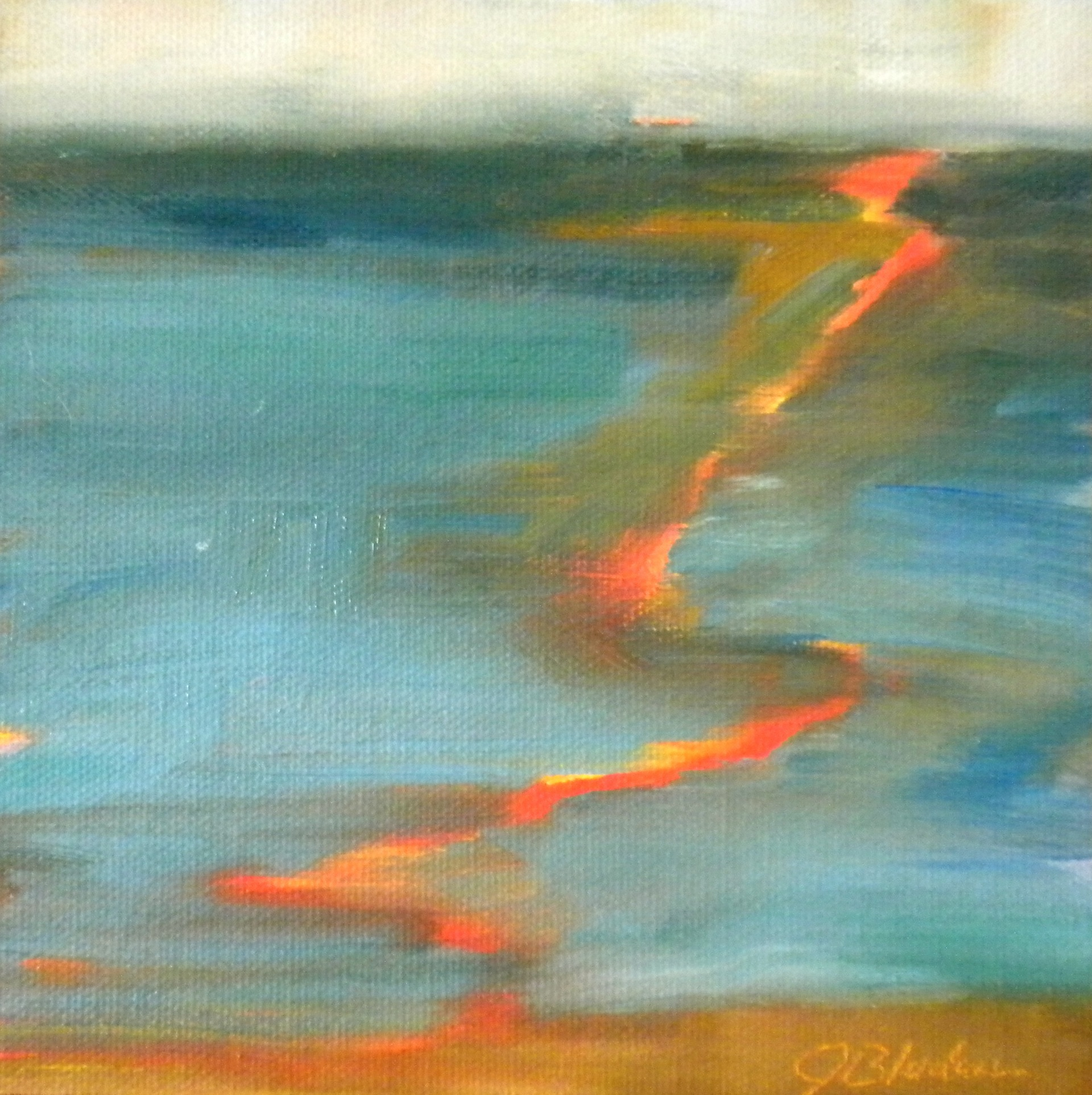 """Here To Horizon"" original fine art by Janet Bludau"