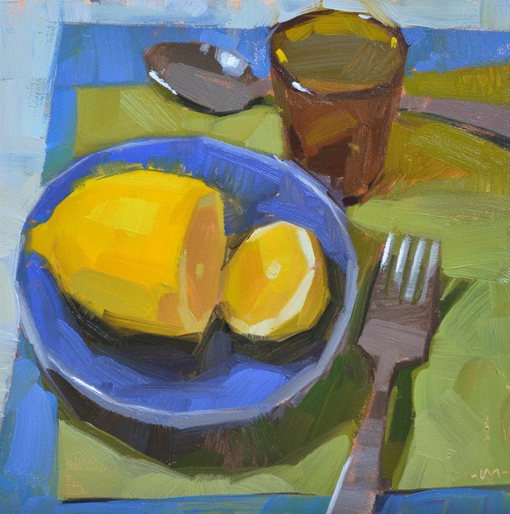 """Lemon Lover's Lunch"" original fine art by Carol Marine"