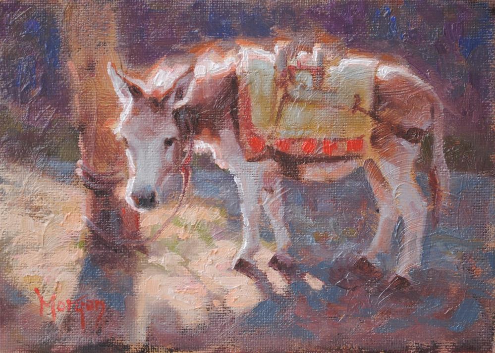 """""""Patience"""" original fine art by Cecile W. Morgan"""