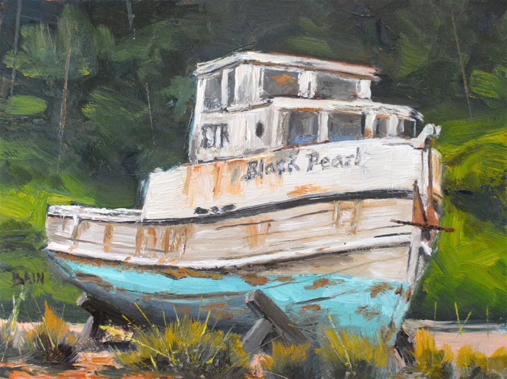 """Black Pearl"" original fine art by Peter Bain"