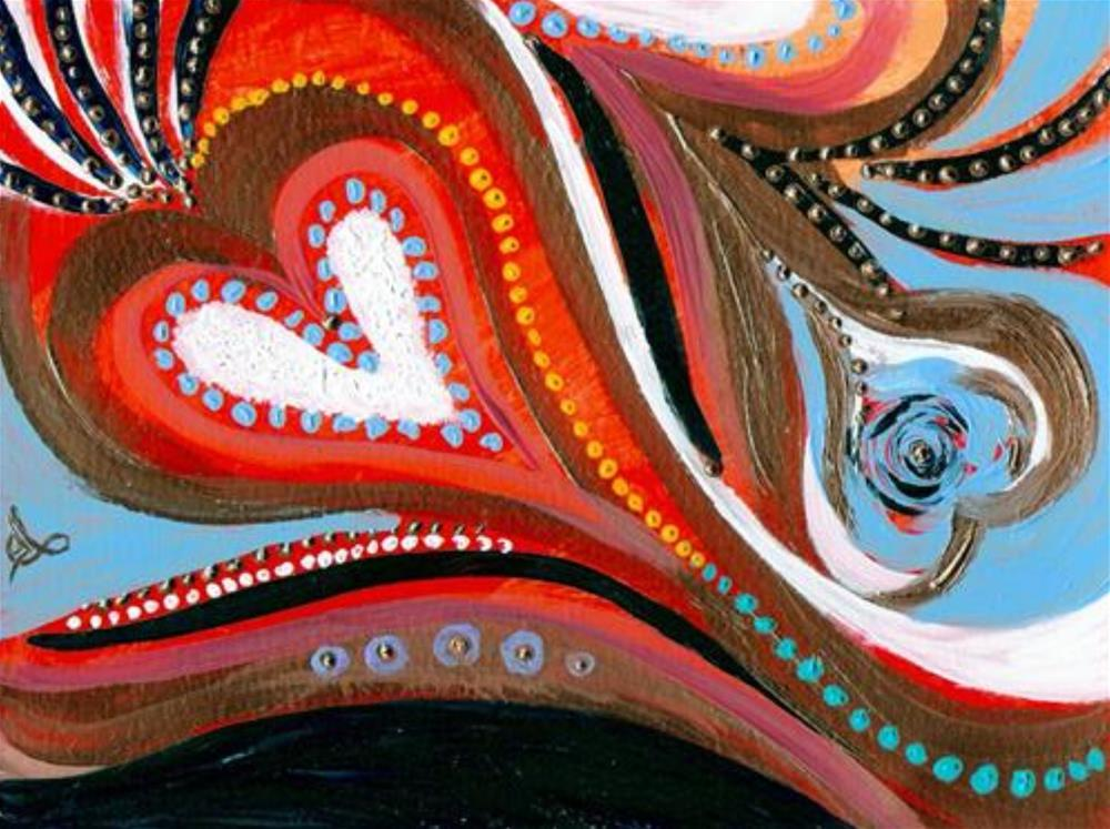 """3130 - Heartfelt"" original fine art by Sea Dean"