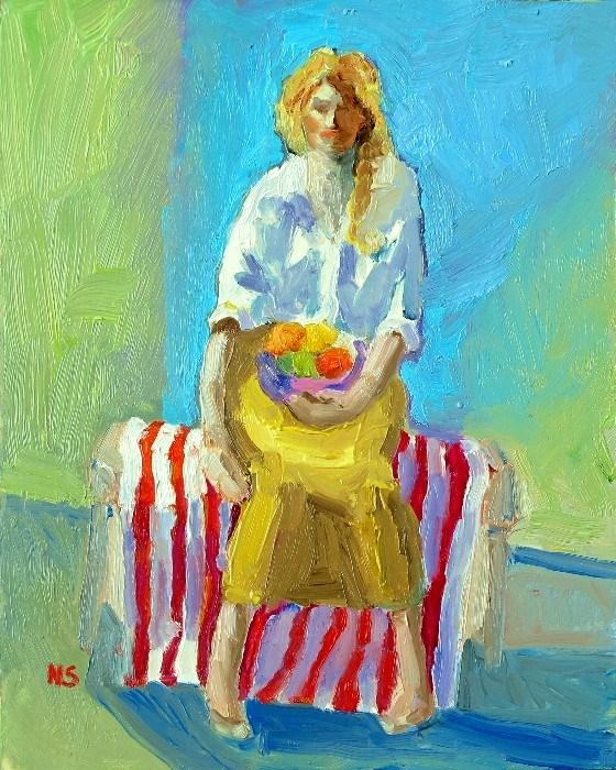 Fruit Bowl 12024  (framed) original fine art by Nancy Standlee