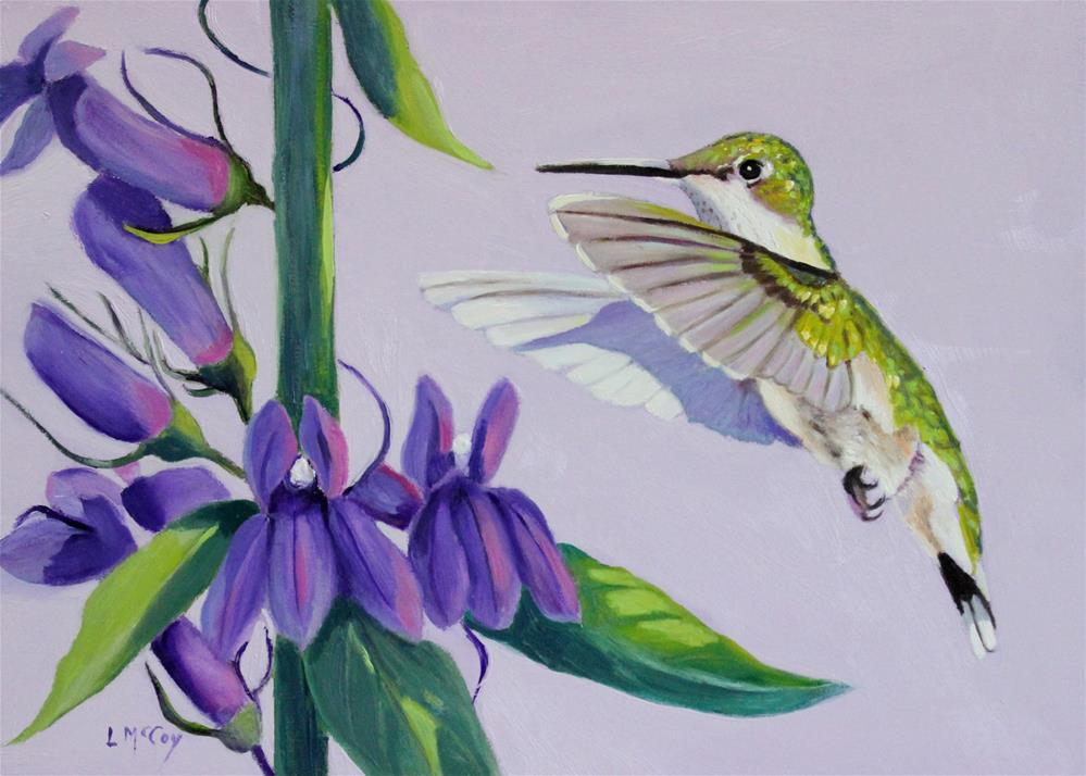 """Discovery, Hummingbird in Flight"" original fine art by Linda McCoy"