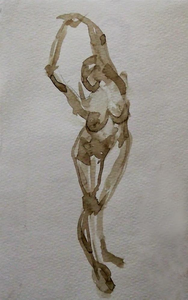 """""""Strathmore paper"""" original fine art by Mitsuru Cope"""