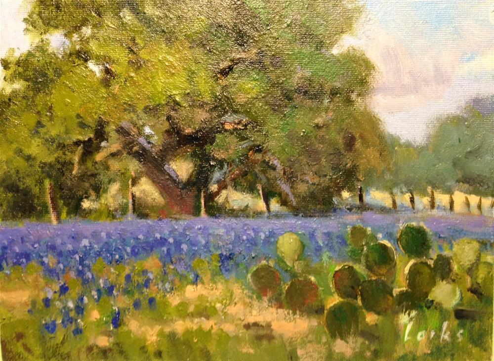 """""""Along the fence line"""" original fine art by David Forks"""
