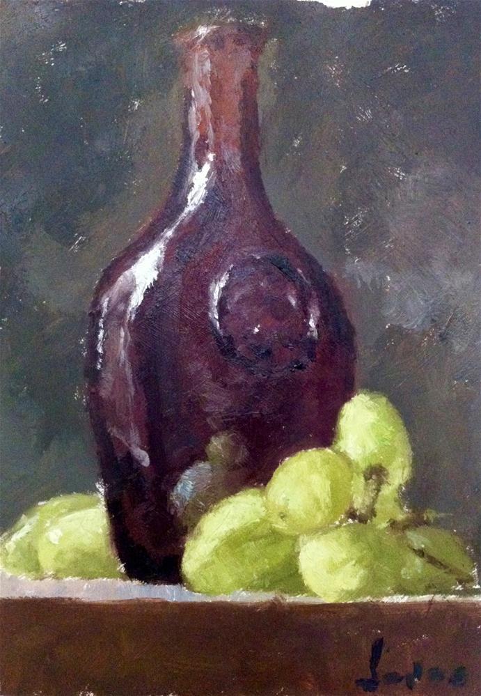 """""""Little Red Bottle"""" original fine art by Richard Jones"""