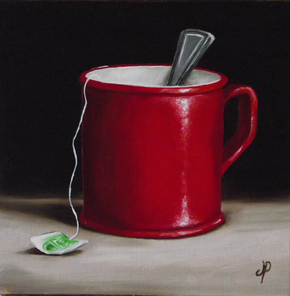 """Mug of Tea #2"" original fine art by Jane Palmer"