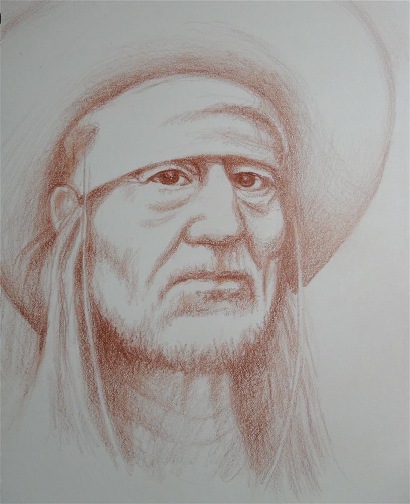 """Eyes of Willy"" original fine art by Karen Roncari"