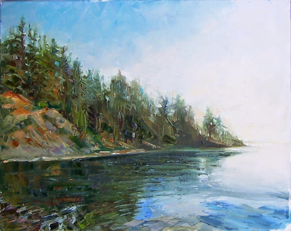 """Launch at Larrabee,landscape,oil on canvas,16x20,price$995"" original fine art by Joy Olney"