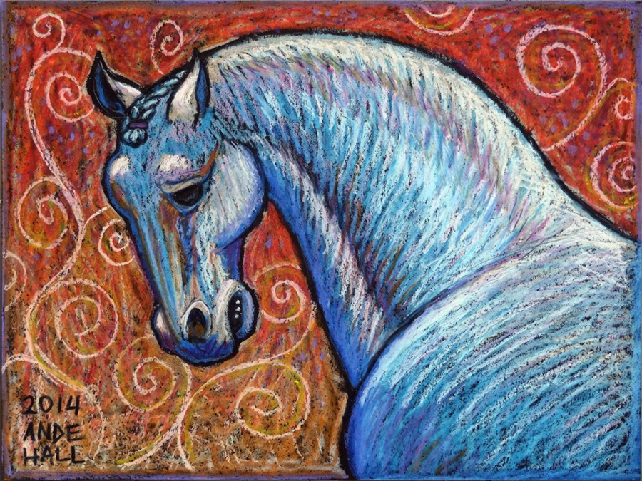 """Chinese New Year Horse"" original fine art by Ande Hall"