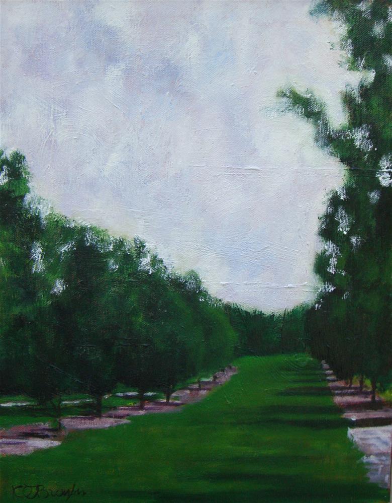 """""""Pecan Alley"""" original fine art by Kathy Broyles"""