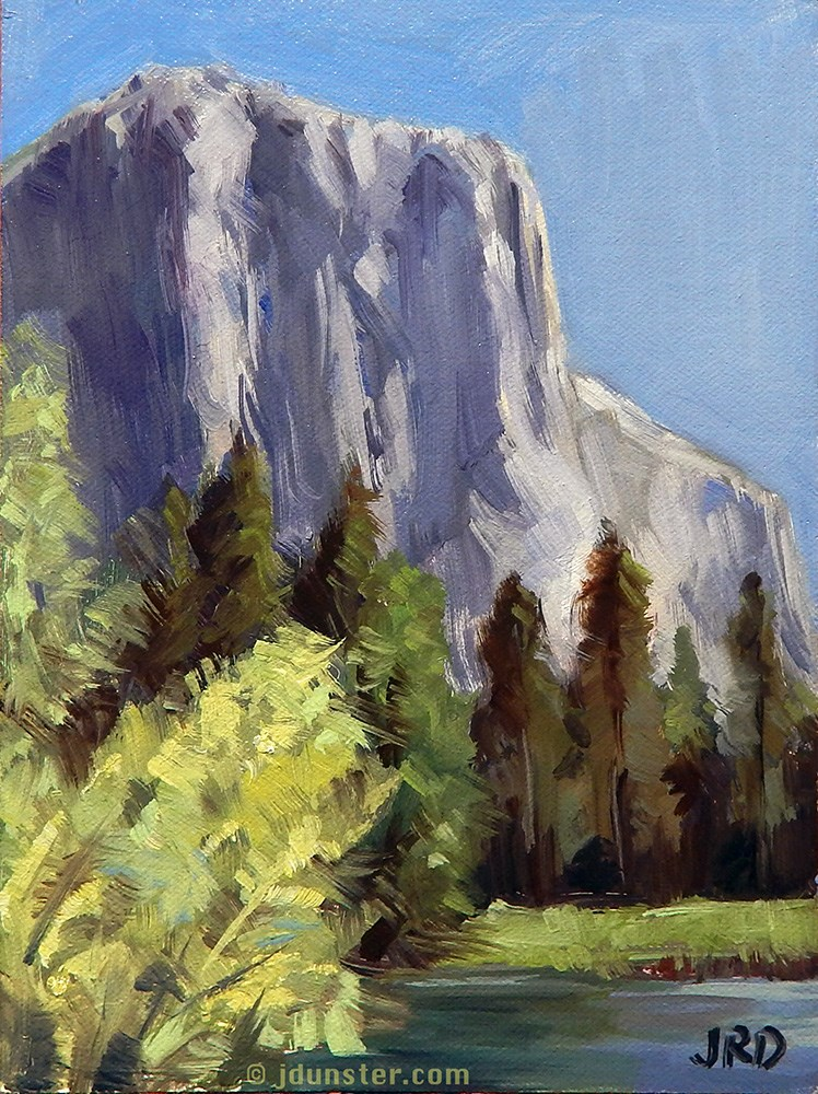 """El Cap - Yosemite National Park"" original fine art by J. Dunster"