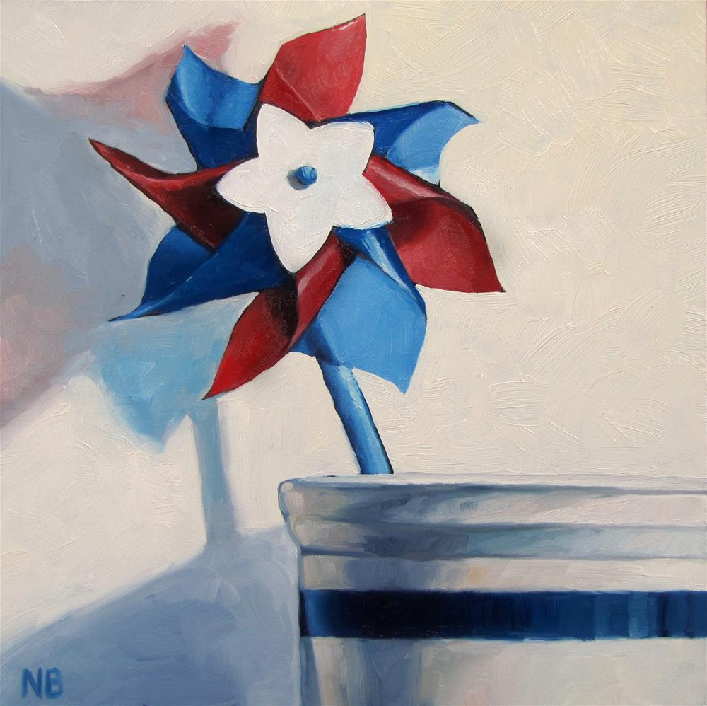 """Pinwheel"" original fine art by Nora Bergman"