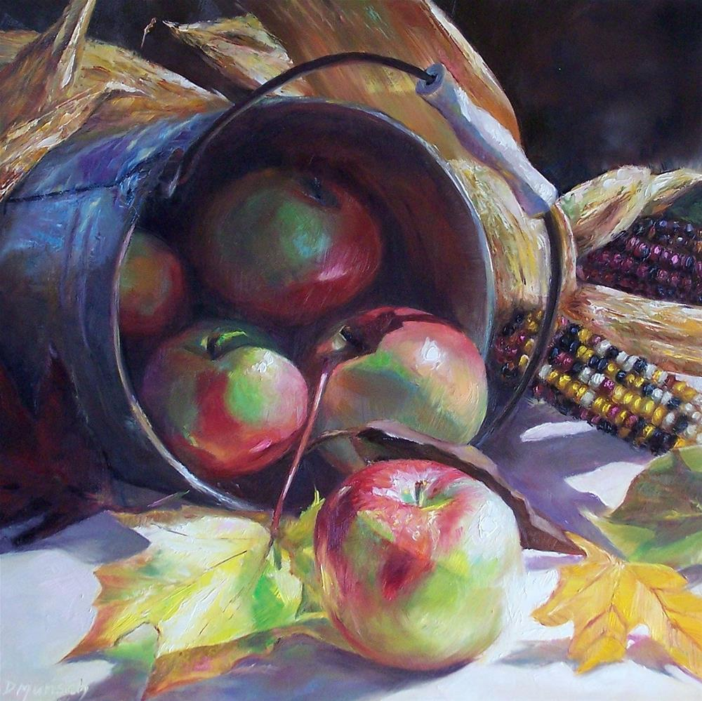 """Tipped Apples"" original fine art by Donna Munsch"