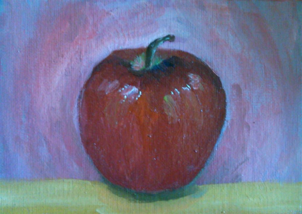 """""""Apple"""" original fine art by Gerri Obrecht"""
