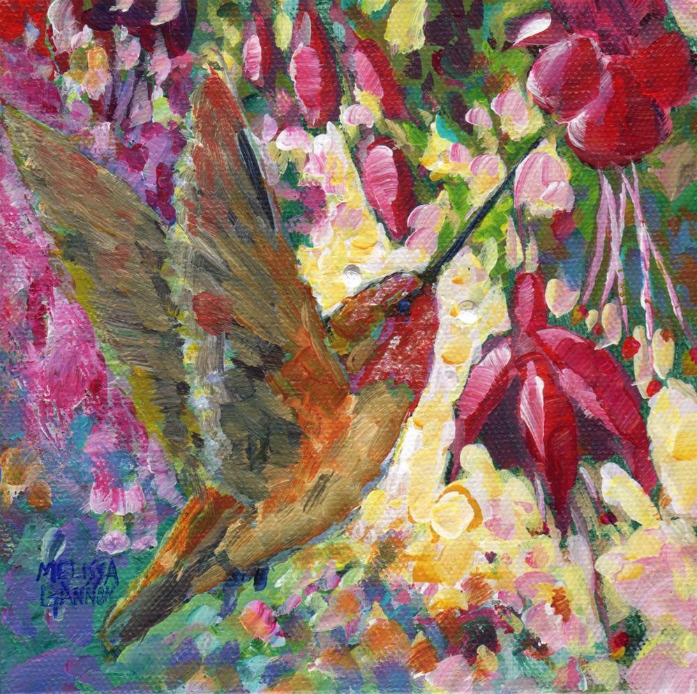 """Hummer Ballet"" original fine art by Melissa Gannon"