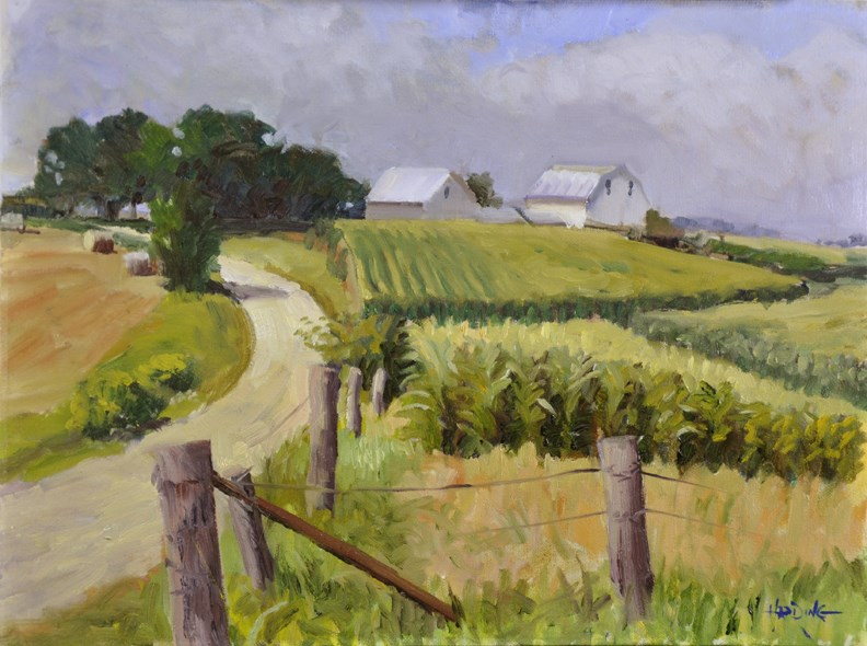 """Finnie Road Farm"" original fine art by Scott Harding"