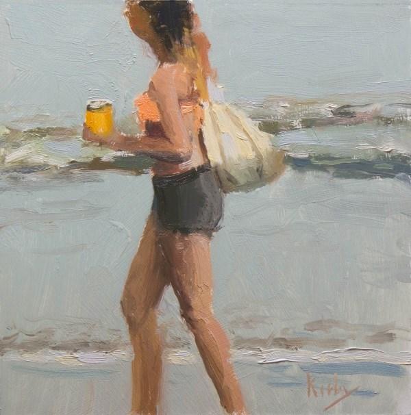 """""""Beach Fashion"""" original fine art by Randall Cogburn"""