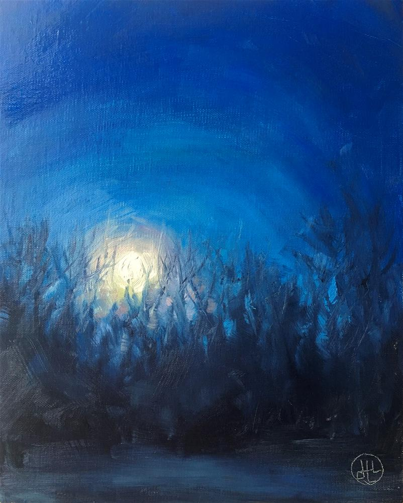 """moonset"" original fine art by Dottie  T  Leatherwood"