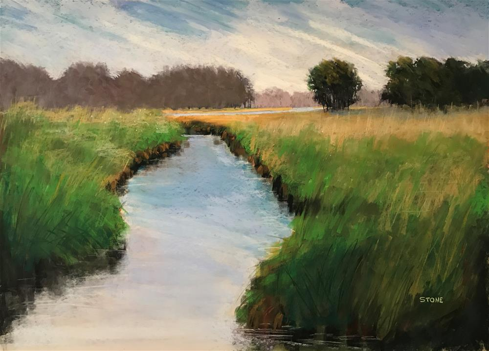 """Pryor Creek, Rogers County"" original fine art by Greg Stone"