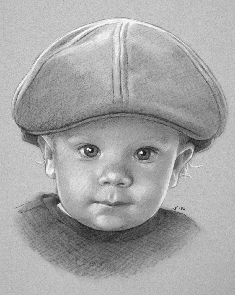 """Baby Boy"" original fine art by Rita Kirkman"