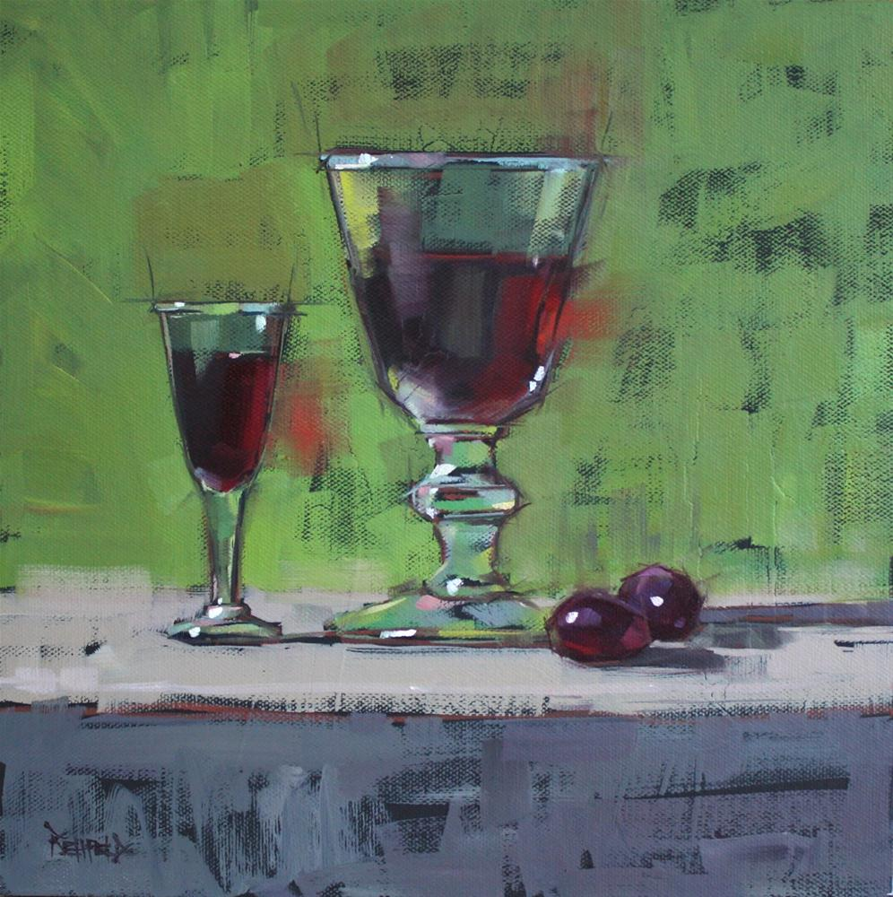 """A LIttle Port and A Little Wine"" original fine art by Cathleen Rehfeld"