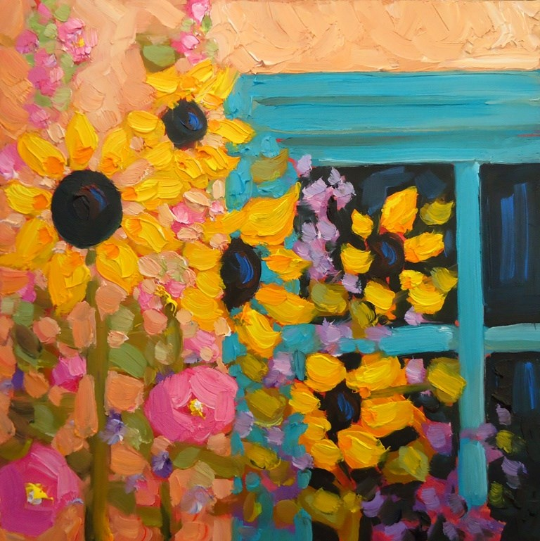 """139 SUNNY WINDOW"" original fine art by Dee Sanchez"