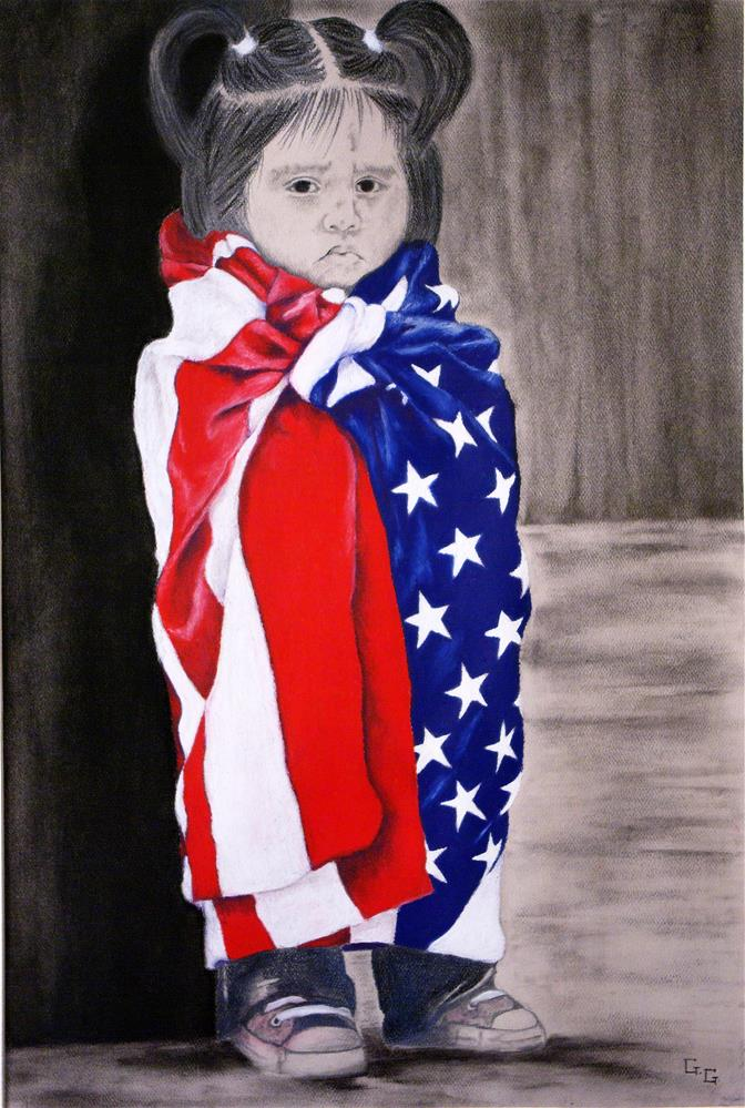 """Yearning to Breathe Free"" original fine art by G. G. Slockett"
