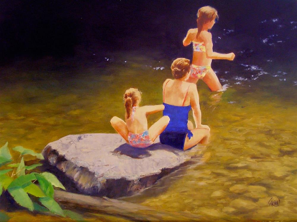 """""""Mountain Swimmers, 20x16 Oil on Canvas"""" original fine art by Carmen Beecher"""