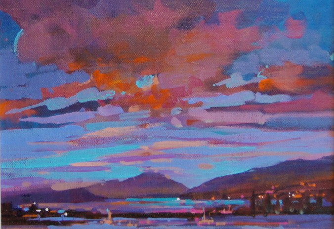 Morning Comes to the Estuary original fine art by Brian Buckrell