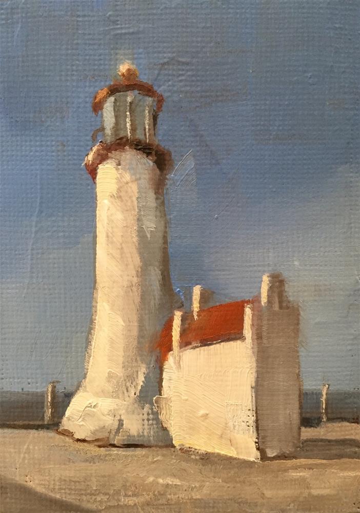 """Lighthouse, Afternoon Light"" original fine art by Gary Bruton"