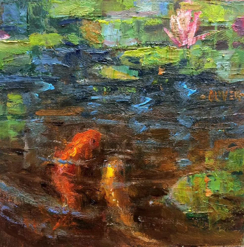 """KOI"" original fine art by Julie Ford Oliver"