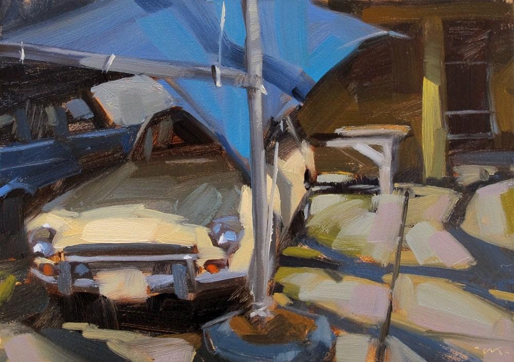 """Under Cover"" original fine art by Carol Marine"