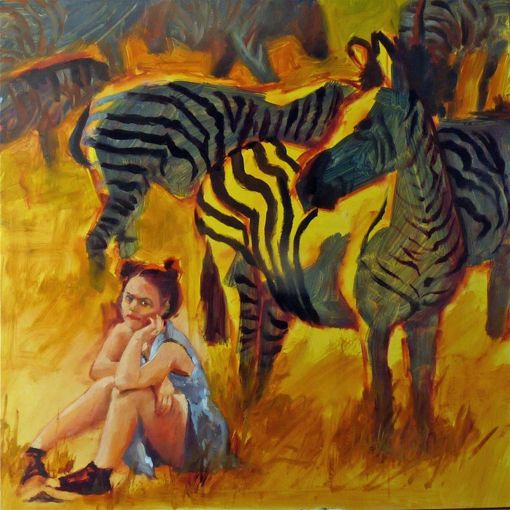 """Lost In The Crowd"" original fine art by Sharman Owings"