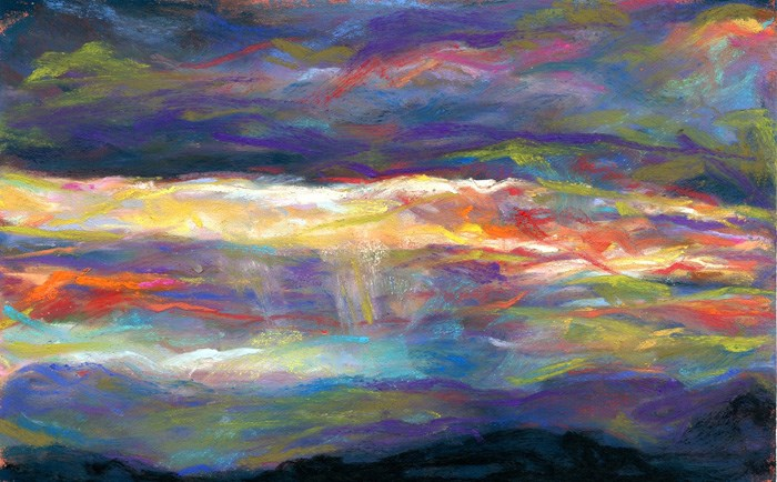 """LAYERS OF THE NIGHT - pastel by Susan Roden"" original fine art by Susan Roden"