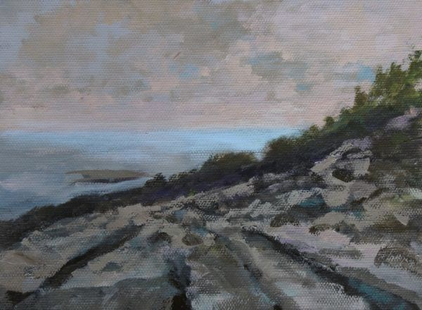 """Landscape, Seascape Oil Painting Maine-Study #7 by Colorado Landscape Artist Susan Fowler"" original fine art by Susan Fowler"