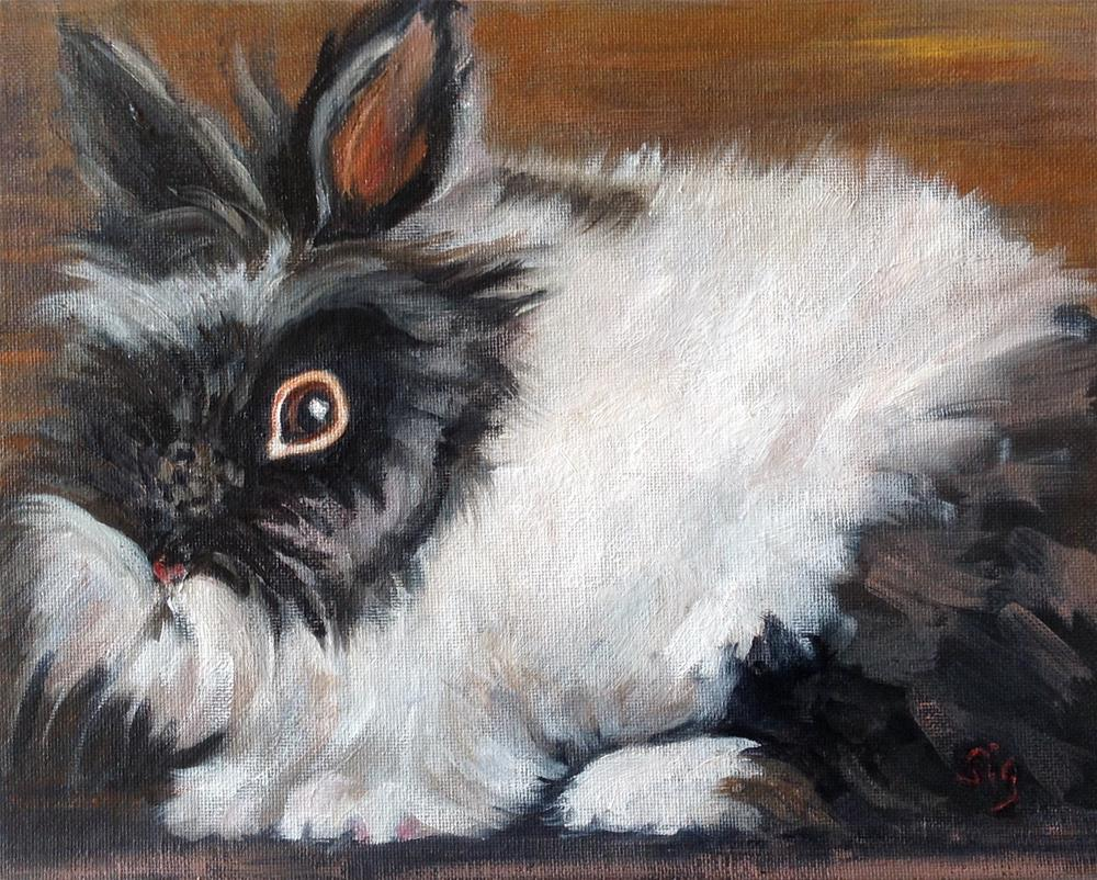 """Fluff & Stuff"" original fine art by Sigrid Victor"