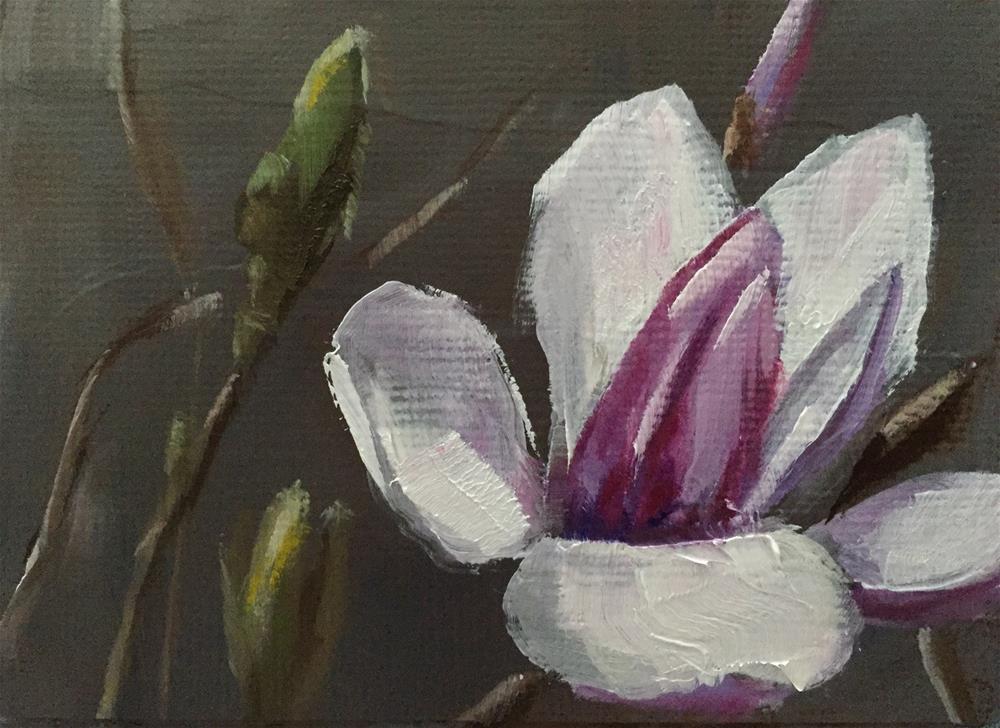 """""""Saucer Magnolia"""" original fine art by Gary Bruton"""