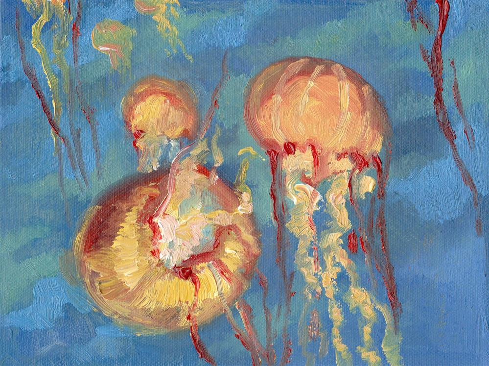 """SEA NETTLES"" original fine art by Karen E Lewis"