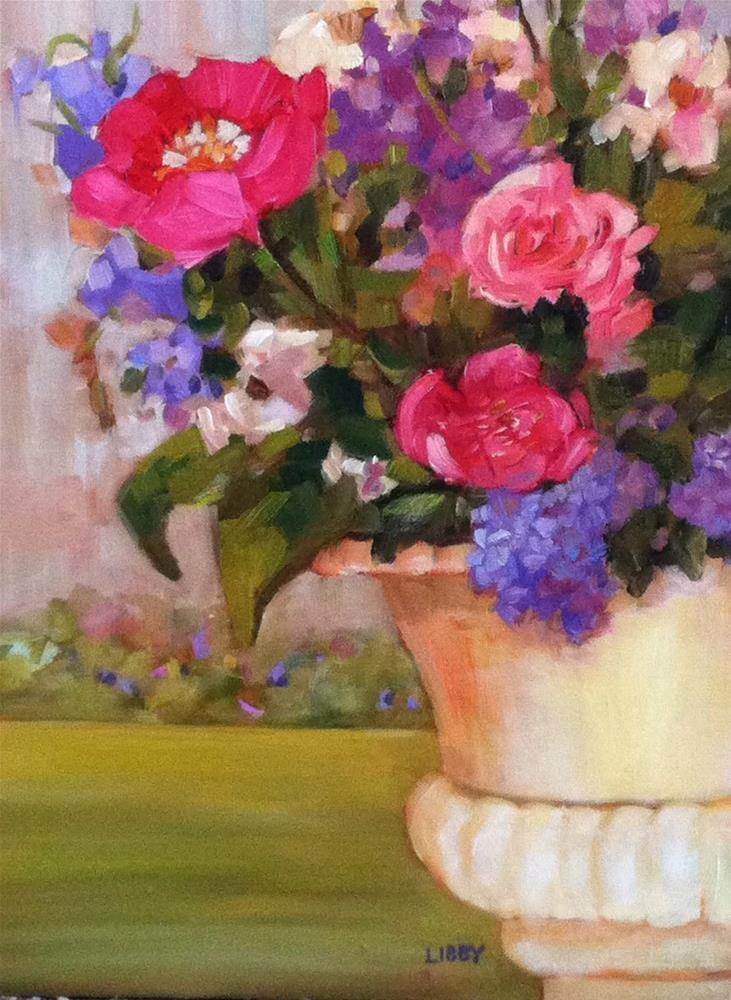 """Garden Planter"" original fine art by Libby Anderson"