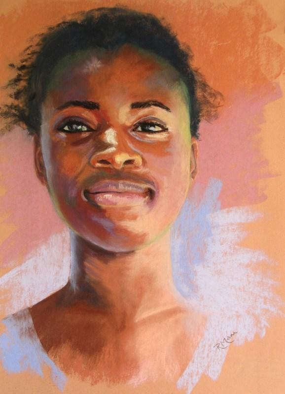 """Laughing Eyes"" original fine art by Ruth Mann"
