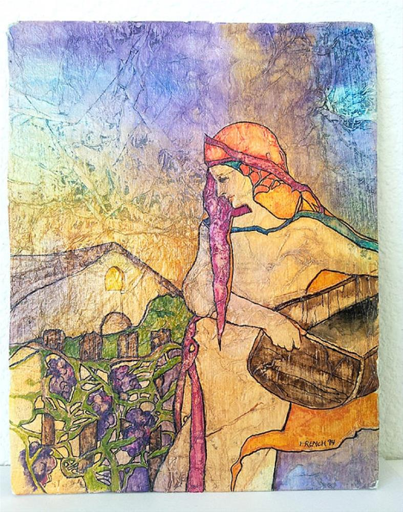 """Vineyard Harvest Zen Inspired Watercolor on Tissue"" original fine art by lynne french"