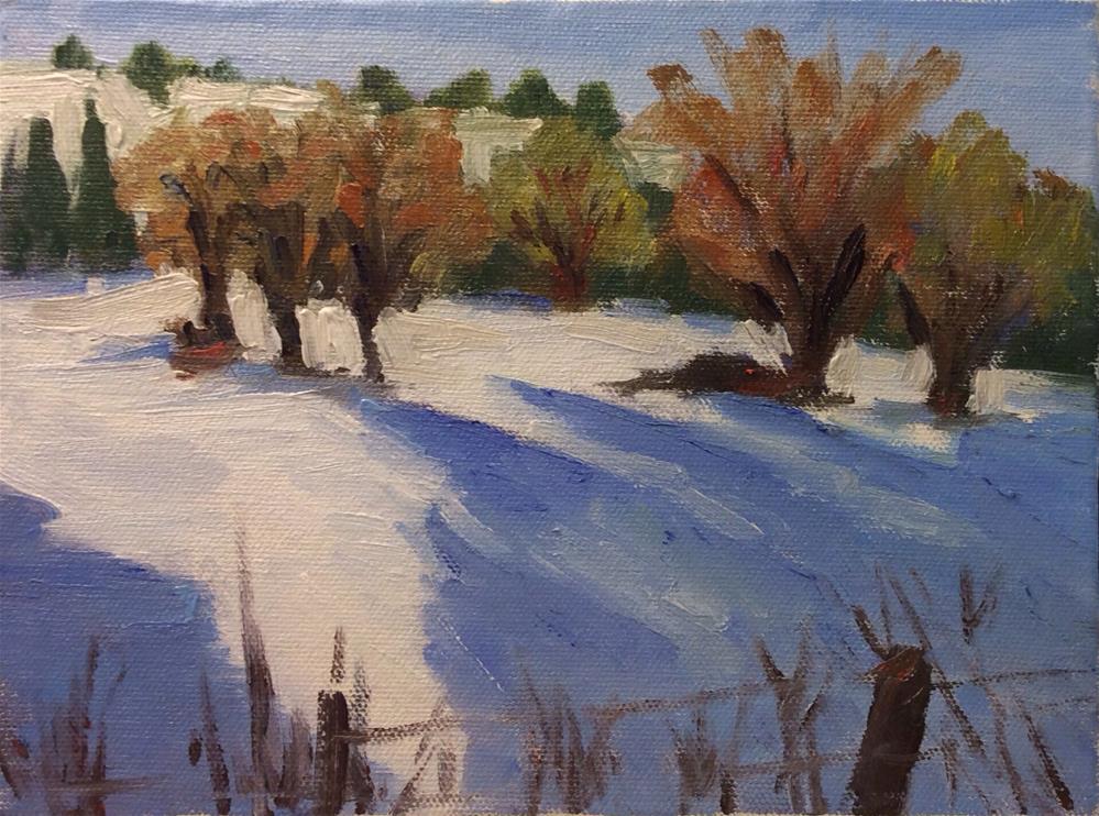 """Snow challenge"" original fine art by Debbie Dowdle"
